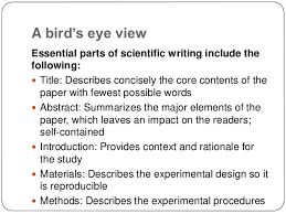 The   pivotal paragraphs in a paper   Dynamic Ecology  How to write a good abstract for a scientific paper or conference  presentation Andrade C   Indian J Psychiatry