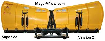 meyervplow com meyer products v plow information including the version 2 is 29 5 tall in the center and 38 25 at the wing tips sv2 8 5 and 39 5 sv2 9 5 and 40 5 sv 10 5
