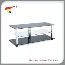 china hot black tempered 3 shelf glass stand 106 tv for