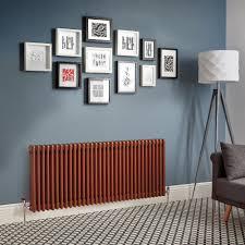 Design Heizkörper Horizontal Traditioneller 3 Säulen Metallisches Kupfer Regent Größe Wählbar