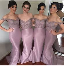 2017 dusty rose pink mermaid bridesmaid dresses off the shoulder lace applique with crystal beadings long dusty rose pink d94