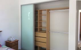 wardrobe with glazed doors
