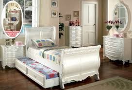 Pearl White Bed Groups - Traditional Children's Twin and Full Sleigh ...