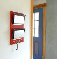 mail holder key rack wall mounted mail holder wall mail holder minimal mail organizer with key