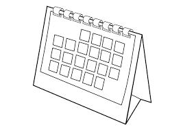 Kleurplaat Kalender Afb 29533 Images