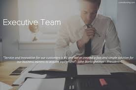 """Centra Funding - Meet Centra's Executive Team """"Service and innovation for  our customers is #1 and we've created a fast and simple solution for our  business owners to acquire equipment"""" -John Boettigheimer -"""