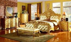 Double Bed Furniture Set White And Gold Girls Bedroom Best Bedroom ...