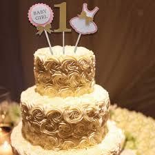 Cute Baby Girl 1st Birthday Cake Topper Kids Birthday Party Cake