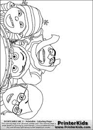 Small Picture Despicable Me 2 Gru Margo Edith and Agnes Coloring Page Preview