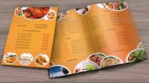 Restaurant Menu Templates Photoshop Free Youtube
