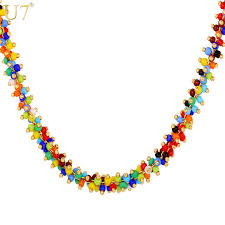 u7 african c bead necklace women fashion jewelry whole trendy 2 size colorful bead necklaces pendant n470