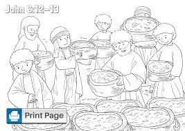 In addition, the kid is carried away and does not bother his mother while she does her business. Jesus Feeds The 5000 Coloring Pages For Kids Printable Pdfs Connectus
