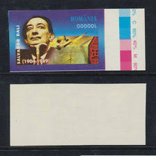 proof essay r ian stamps  r ia 2004 scarce essay proof spain painter salvador dali w o face value mnh