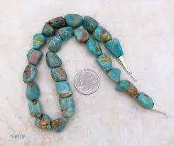 image 0 of chunky greenish turquoise necklace 18 made in new mexico 4825rb