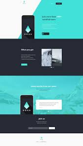 One Product Website Design Nord Simple App Landing One Page Template Simple App