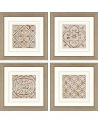 >bargains on moroccan tiles framed wall art set of 4 moroccan tiles framed wall art set of 4