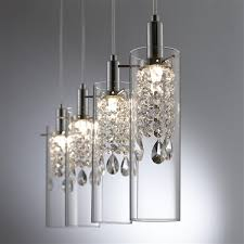 bazz led 4 branch pendant light with
