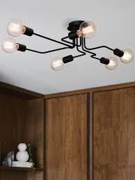 pac 6 light pendant in black