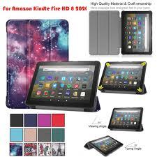 Bao Da Máy Tính Bảng Siêu Mỏng Kèm Giá Đỡ Cho Kindle Fire Hd 8 / Hd 8 Plus  10th Gen 2020 Ốp