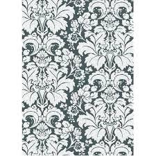 black damask area rug and ivory white