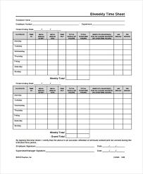 Bi Weekly Time Card 36 Timesheet Templates In Pdf Free Premium Templates