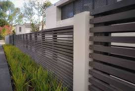 modern metal fence design. Contemporary Metal Fencing Backyard Landscaping Fence Modern Design E