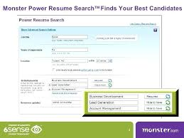 power resume search monster power resume search finds your best candidates  power resume search monster