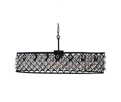 cassiel 30 inch oval crystal chandelier black