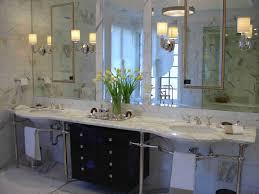 Bahtroom Pretty Flower Decor Glass Vase Marble Top Art Deco