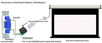 com elite screens in wall up down switch module ziw module com elite screens in wall up down switch module ziw module computers accessories