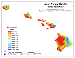 Yearly Rainfall Chart Rainfall Atlas Of Hawaii Rainfall