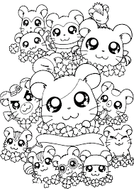 Small Picture Hamtaro Characters Free Coloring Page Cartoon Coloring Pages on