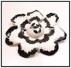 Paper Mache Flower Big Bold Beautiful Vintage Paper Mache Flower Brooch