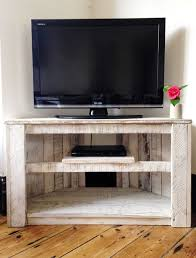 handmade tv stand. Delighful Stand Made To Order  Handmade Rustic Corner Table  TV Stand With Shelf In  White Please Contact Me For Current Lead Time From 100 Reclaimed And  On Tv