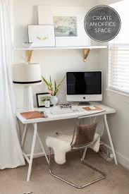 small corner office desk. Small Corner Office Space - This Is All I Need. Love The Ikea Shelf Brackets Painted Gold. Desk K