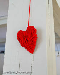 gifts kids can make yarn wrapped heart