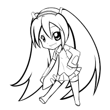 Printable Cute Anime Chibi Coloring Pages For Kids Womanmate Free