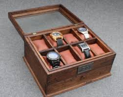 men s watch box watch case watch box wood watch box watch box watch case men s watch box watch box for men wood watch box personalized gift custom watch box for 8 watches leather edition