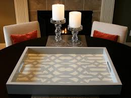 Serving Tray Decoration Ideas How to Stencil a Tray HGTV 47