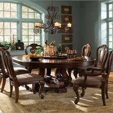 dining room large round table with lazy susan black