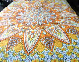 Round mandala quilt | Etsy & Yellow tapestry mandala quilt cover + 2 matching pillowcases, Boho duvet  cover + pillowcases, Adamdwight.com