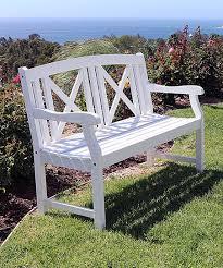 cross back bradley outdoor wood bench