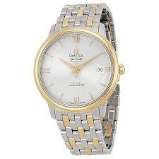 omega deville prestige silver dial steel and yellow gold men s omega deville prestige silver dial steel and yellow gold men s watch 42420372002001