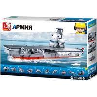 Купить <b>Конструктор</b> SLUBAN Модельки M38-B0698 Авианосец по ...