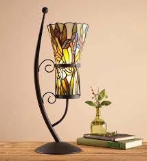 stained glass vase style table lamp