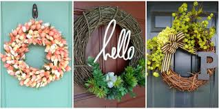 front door decor summer10 DIY Summer Wreath Ideas  Outdoor Front Door Wreaths for Summer