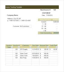 Free Excel Format Invoice Tracking Template Due Date Calendar