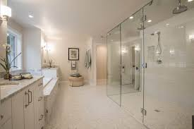 Bathroom  2017 Seamless Small Space Bathroom With Corner Bathtub Spa Like Bathrooms Small Spaces