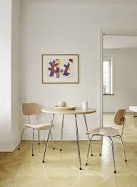contemporary table metal round commercial se 330 by egon eiermann