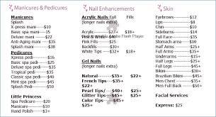 Massage Price List Template | Citibunker.com